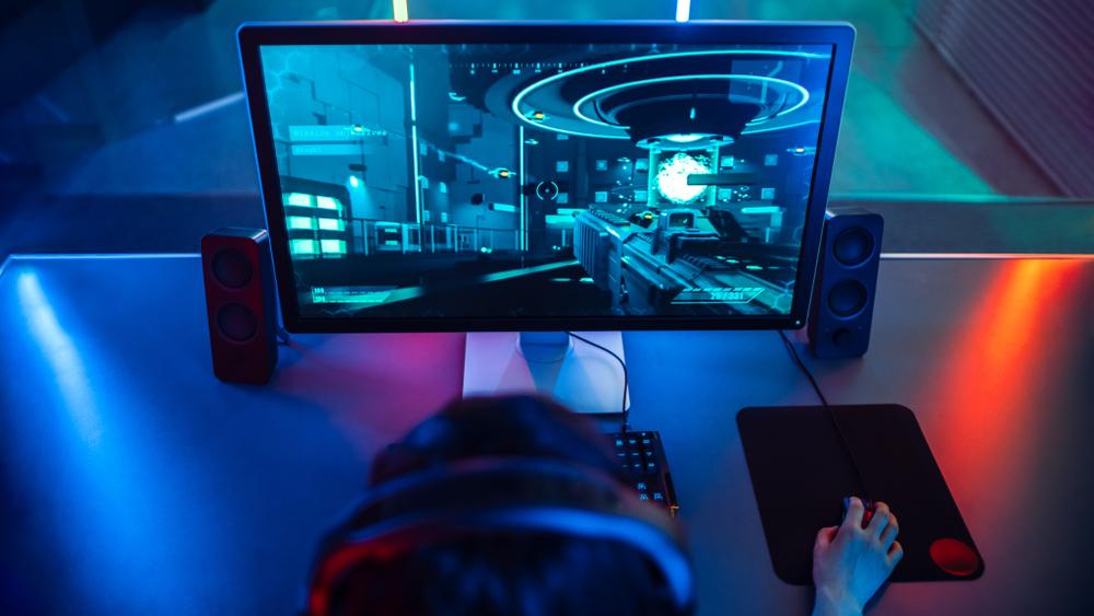 Computer gaming monitor screen